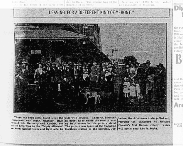"""Leaving For A Different Kind Of 'Front'"", The Edmonton Capital, August 28, 1914"