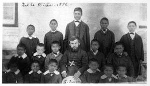 Residential school students in 1896
