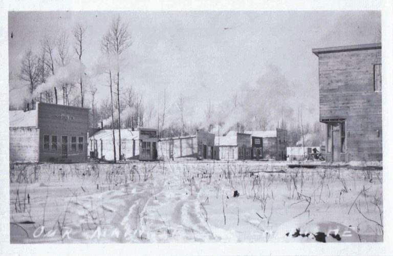 Image of Nanton Street, Lac La Biche, Winter 1915