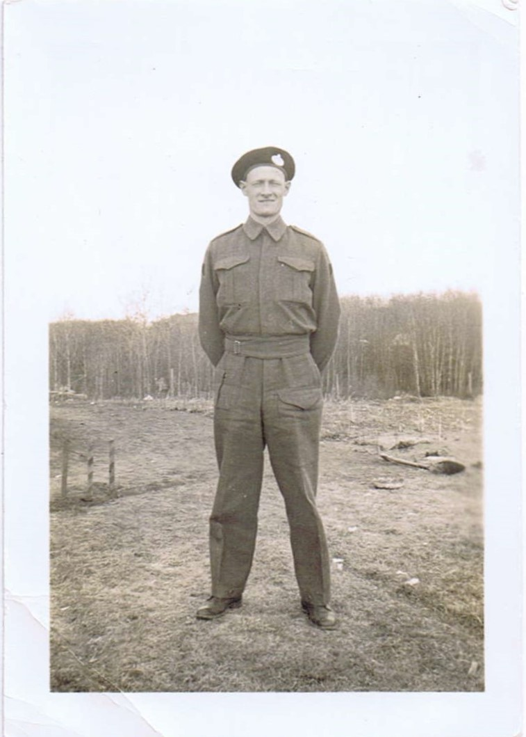 Man in army uniform