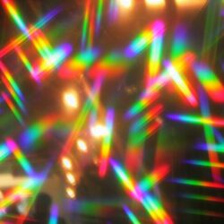 disco lights hologram prism abstract disco lights nightclub synthwave dance party background with copy space