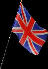 Small Union Jack flag on stick